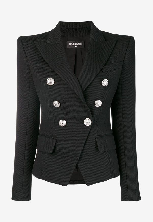 Double-Breasted Iconic Blazer in Cotton Blend
