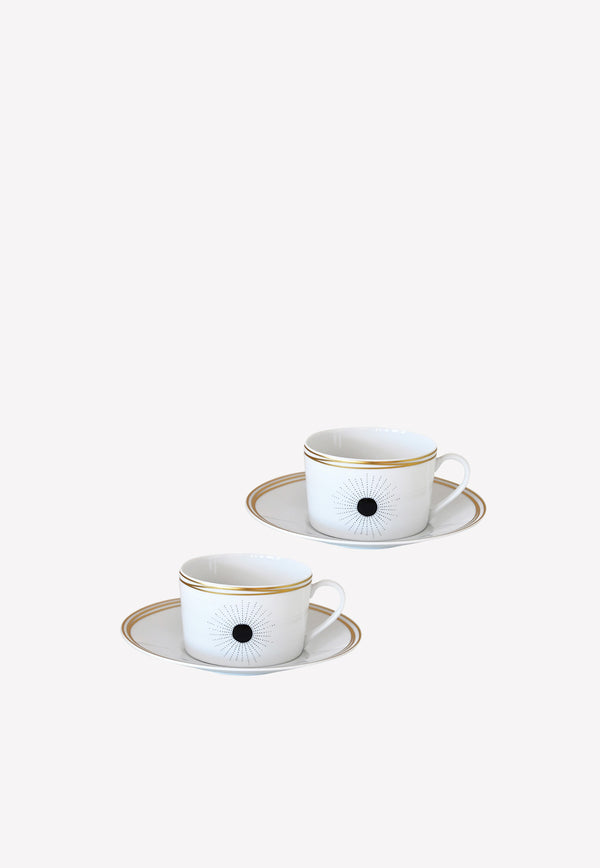 Aboro -  Set of 2 Breakfast Cups and Saucers