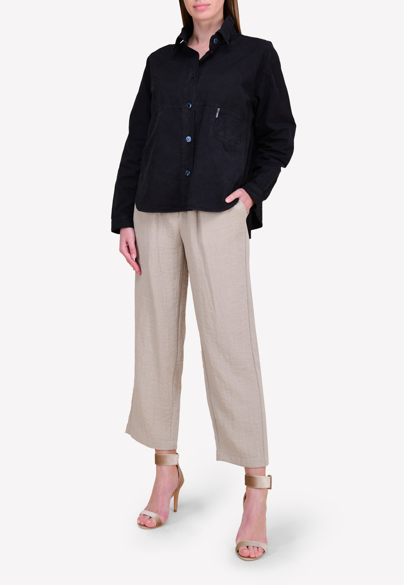 Straight-Cut Pants