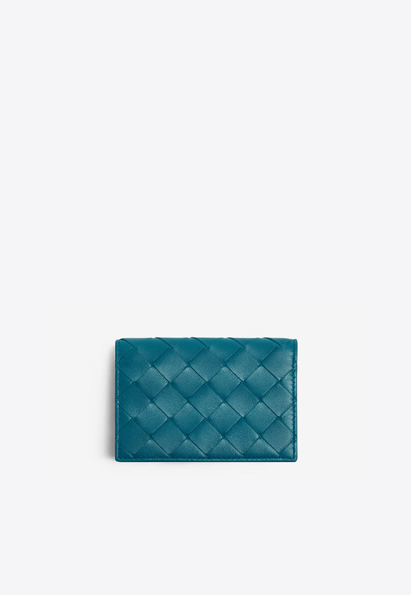 Bi-fold Cardholder in Intrecciato Nappa Leather