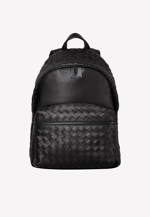 Large Intrecciato Backpack in Calfskin