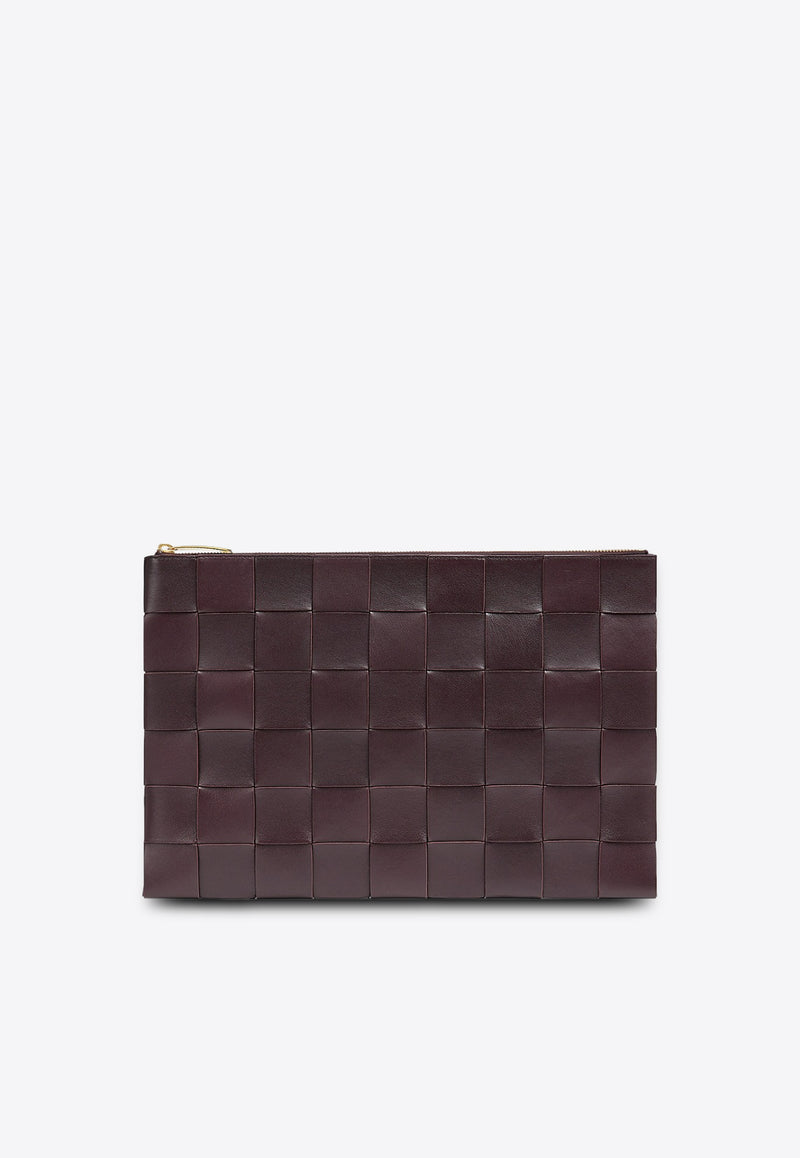 Intrecciato Nappa Leather Zip Pouch