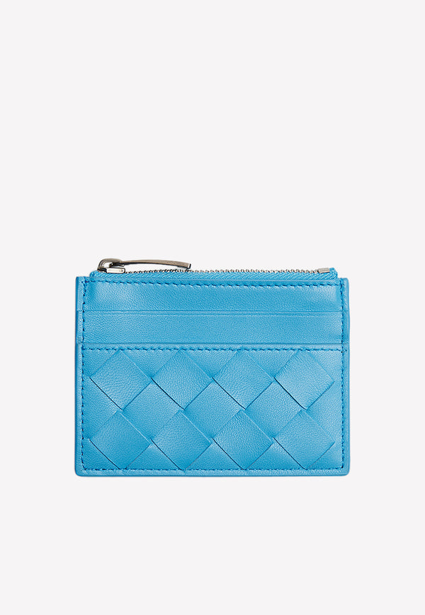 Card Case in Intrecciato Weave Nappa Leather