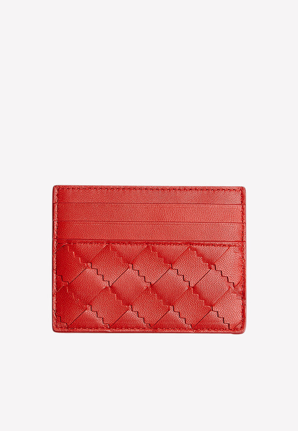 Card Holder in Intrecciato Nappa Leather