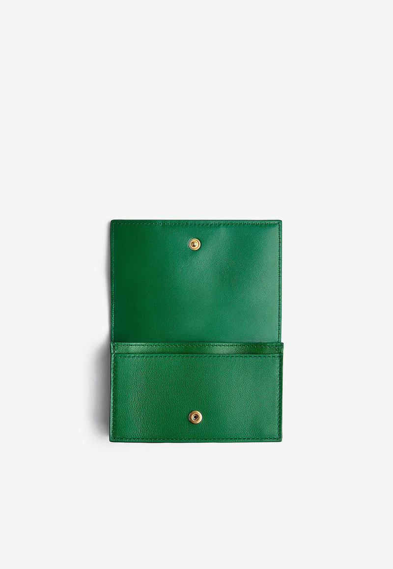 Intrecciato Nappa Leather Flap Cardholder