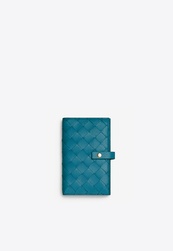 Medium French Wallet in Intrecciato Nappa