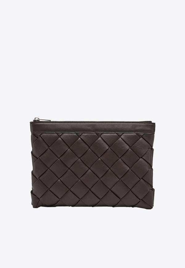 Pouch in  Intrecciato Calf Leather