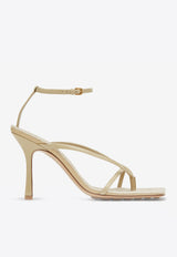 Stretch 90 Square Ankle-Strap Sandals in Lambskin