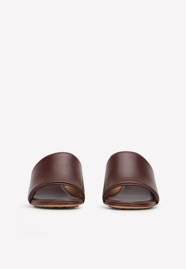 The Band 55 Open-Almond Toe Mules in Calfskin