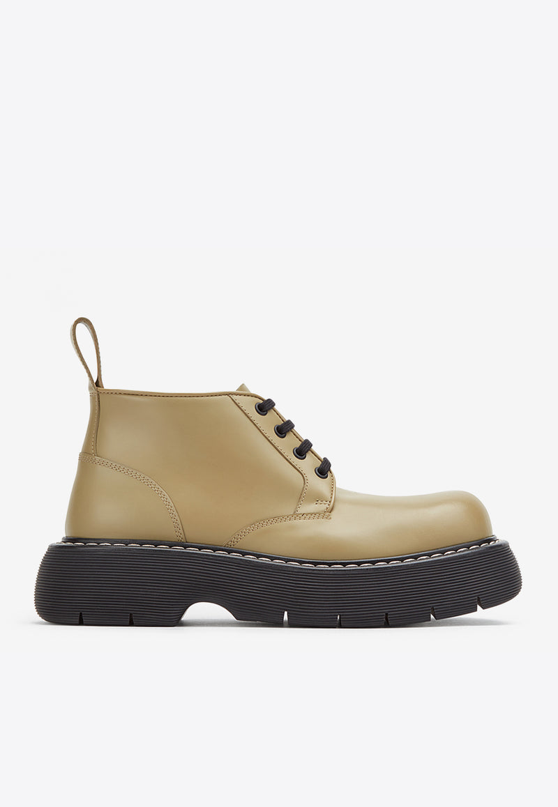 The Bounce Lace-Up Boots in Calfskin