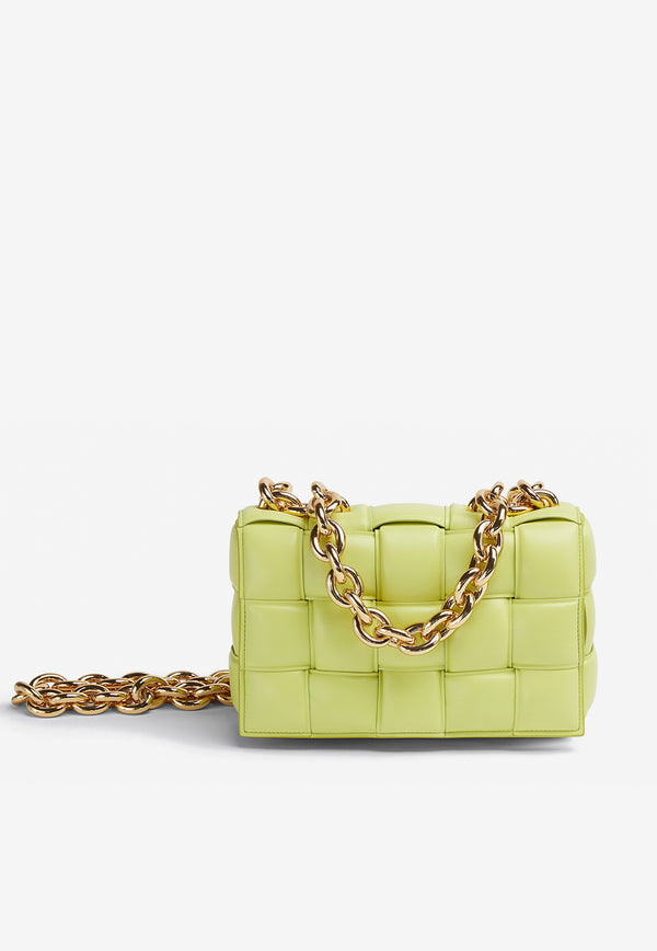 The Chain Cassette Bag in Intrecciato Lambskin