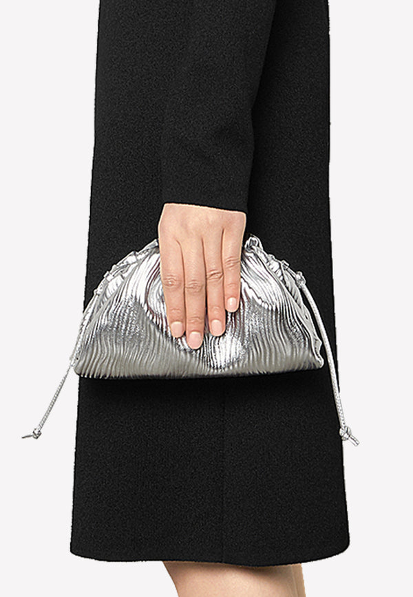 The Mini Pouch in Metallic Calfskin