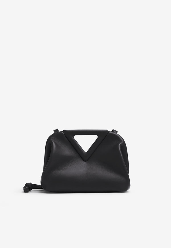 The Small Triangle Top Handle Bag in Calfskin