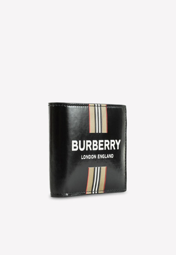 Bifold Wallet with Logo and Icon Stripe
