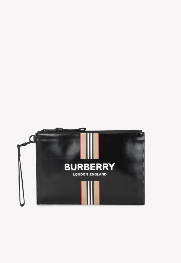 Sonny Zip Pouch with Logo and Icon Stripe
