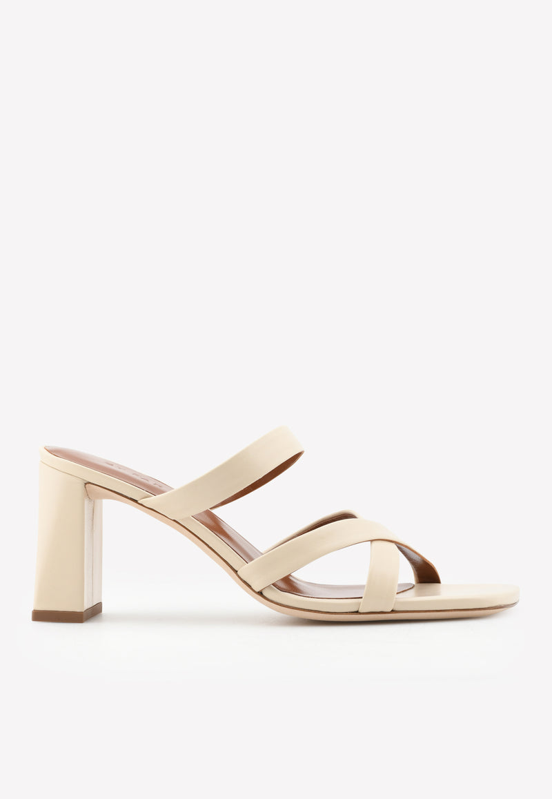 Lenny 80 Creased Leather Sandals