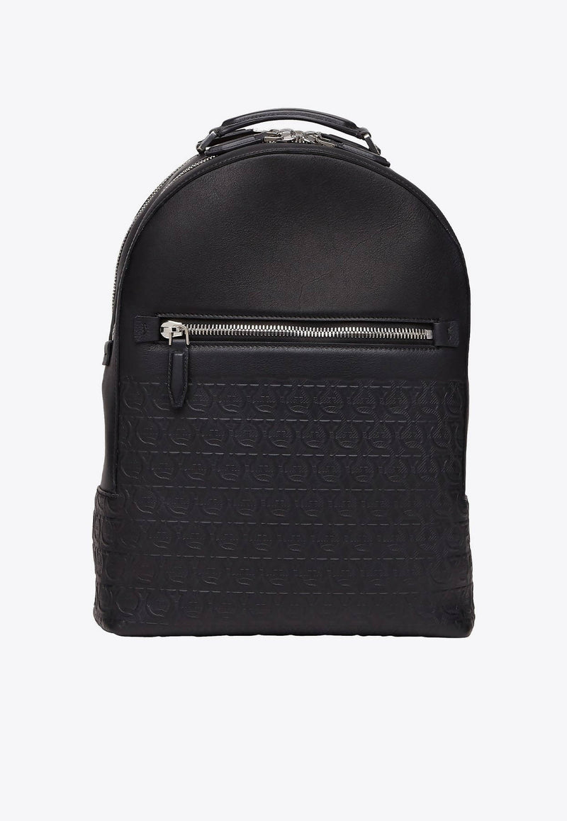 Gancini Backpack in Calfskin