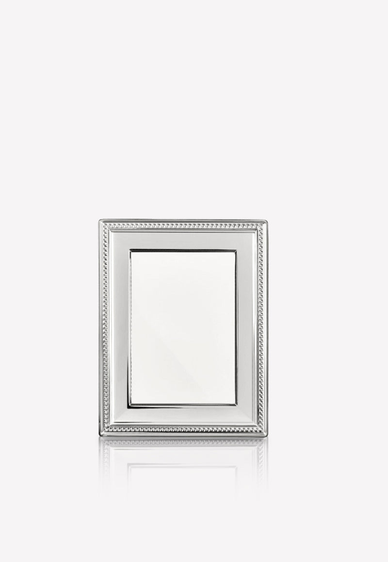 Perles Silver-Plated Picture Frame- 13 x 9 cm