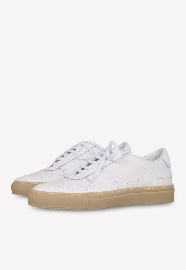 Leather Sneakers with Perforated Detail