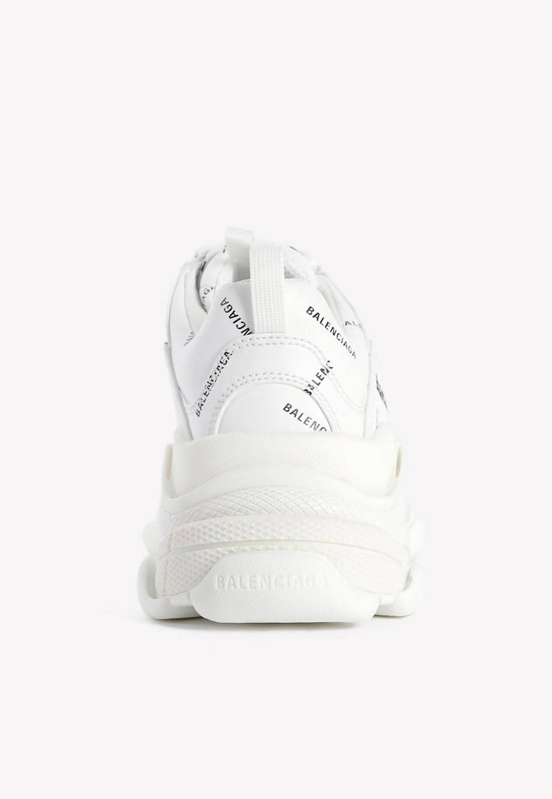 Triple S All-Over Logo Sneakers in Mesh and Nylon