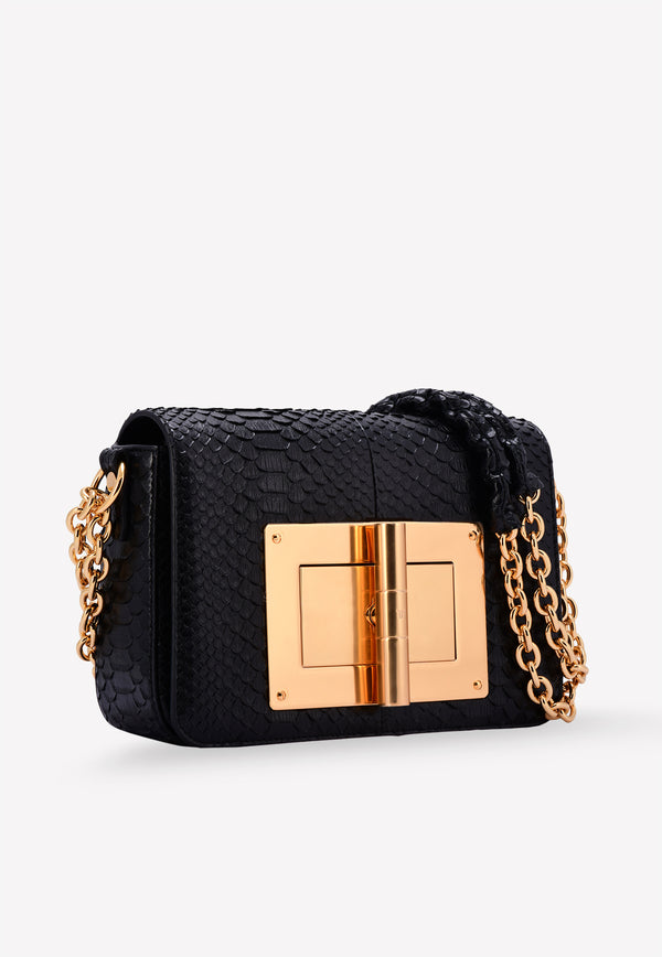Natalia Medium Python Leather Shoulder Bag
