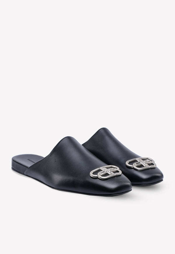 Cosy BB-Logo Mules in Smooth Calfskin