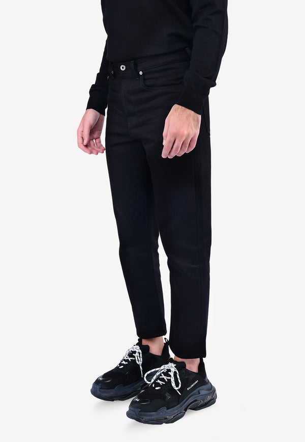 2099 Print Chino Fit Cropped Jeans