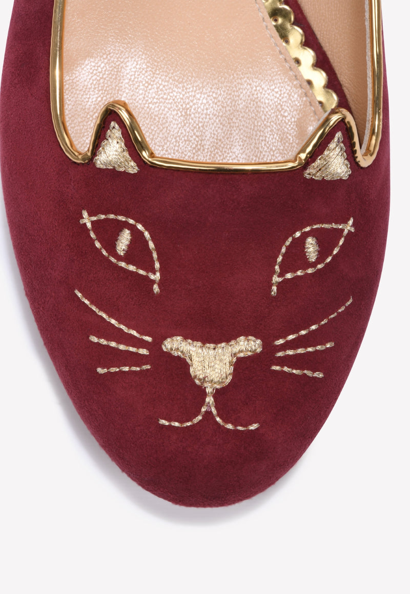 Kitty Suede Leather Flats