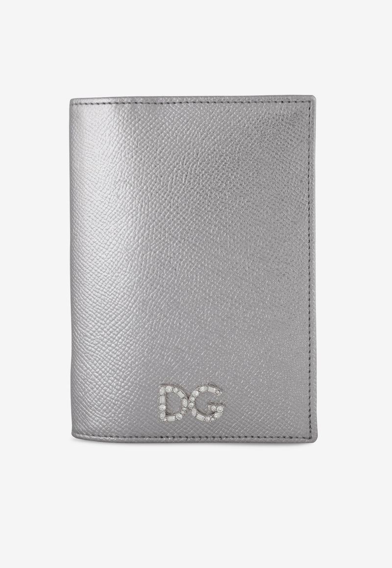 Laminated Leather Passport Holder with DG Crystal Logo