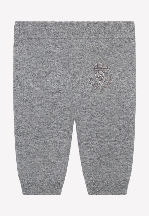 Baby Boy Heritage Embroidered Cashemere Track Pants