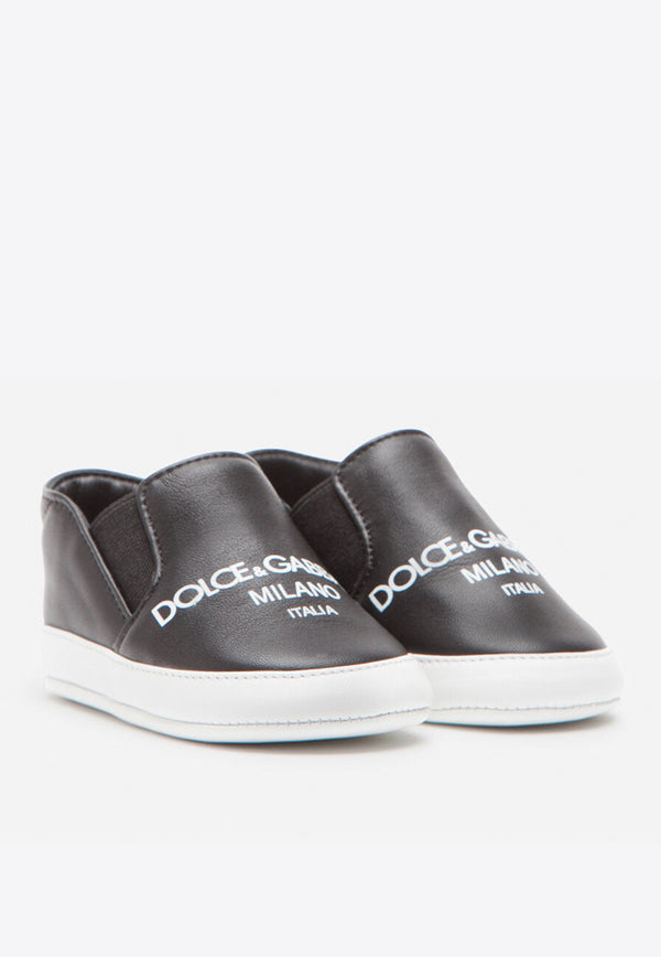 Baby Boys Slip-On Lambskin Sneakers