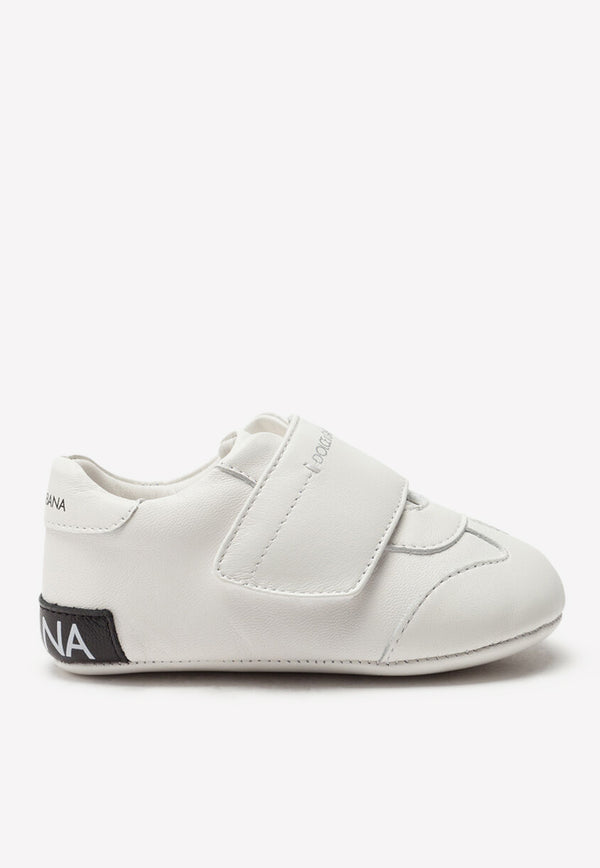 Baby Nappa Leather Logo-Print Sneakers