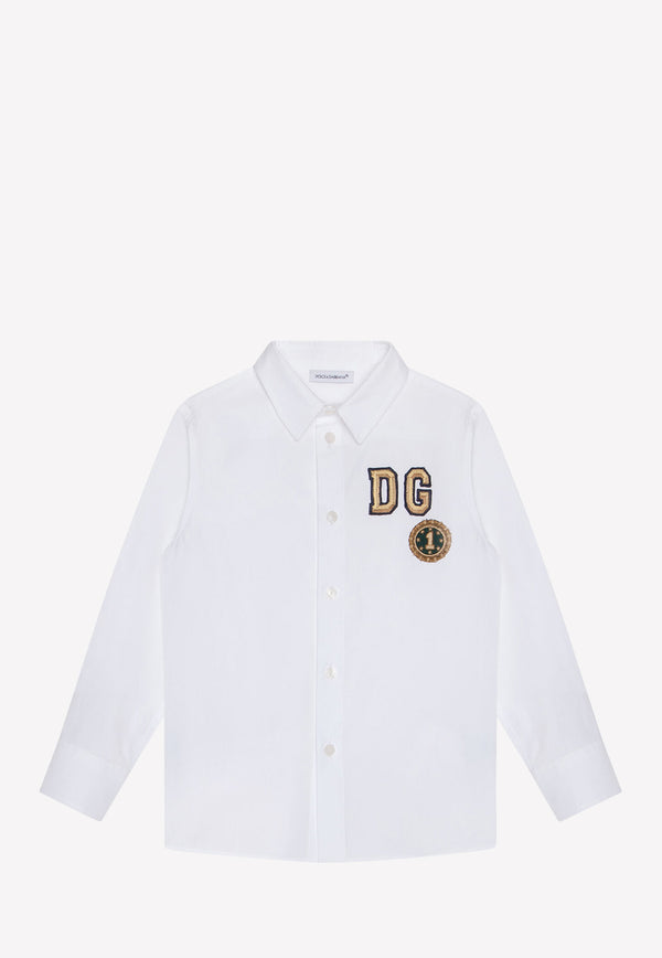 Boys Cotton Poplin Shirt