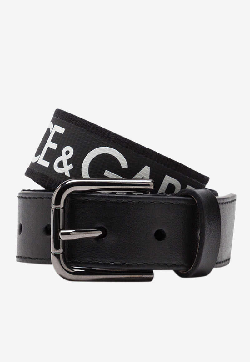 Boys' Grosgrain Belt with Rolled Palladium Plated Buckle