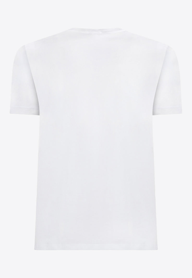 Cotton Jersey Basic T-Shirt with DG Patch