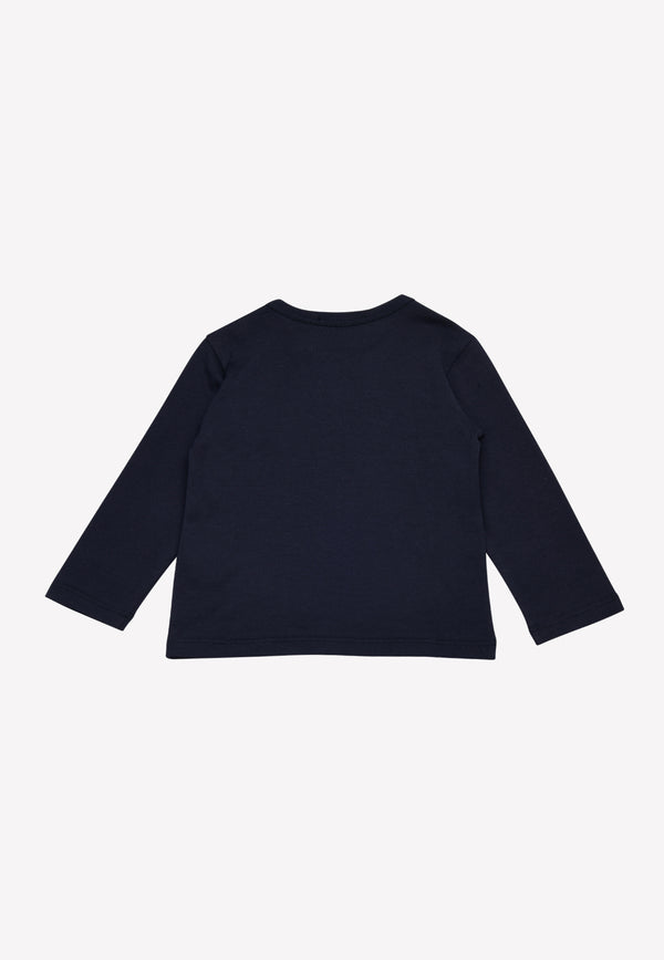 Baby Boys Long-Sleeved T-shirt with Logo Plate