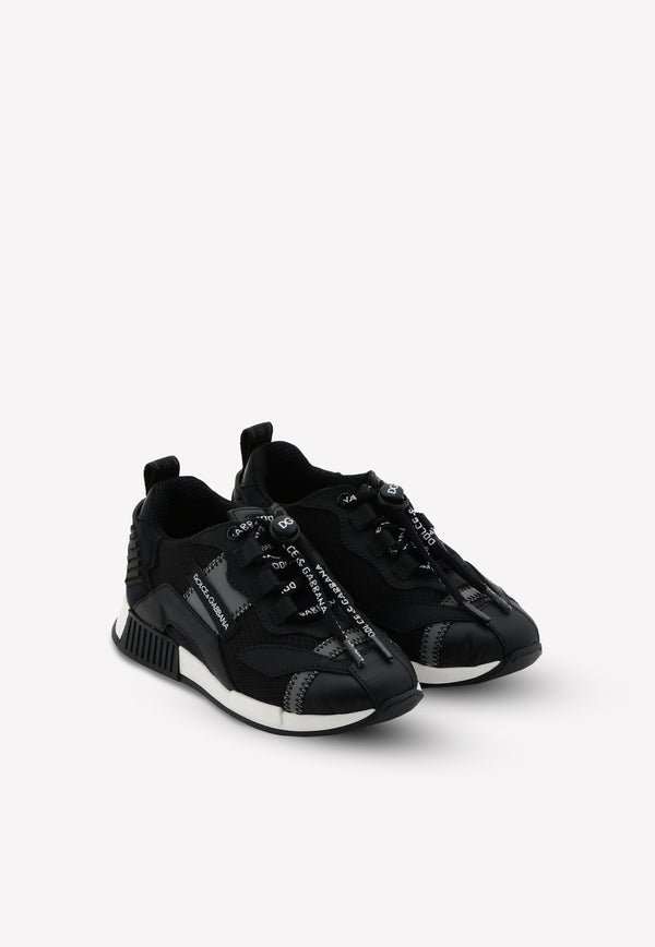 Boys NS1 Sneakers in Leather and Lycra