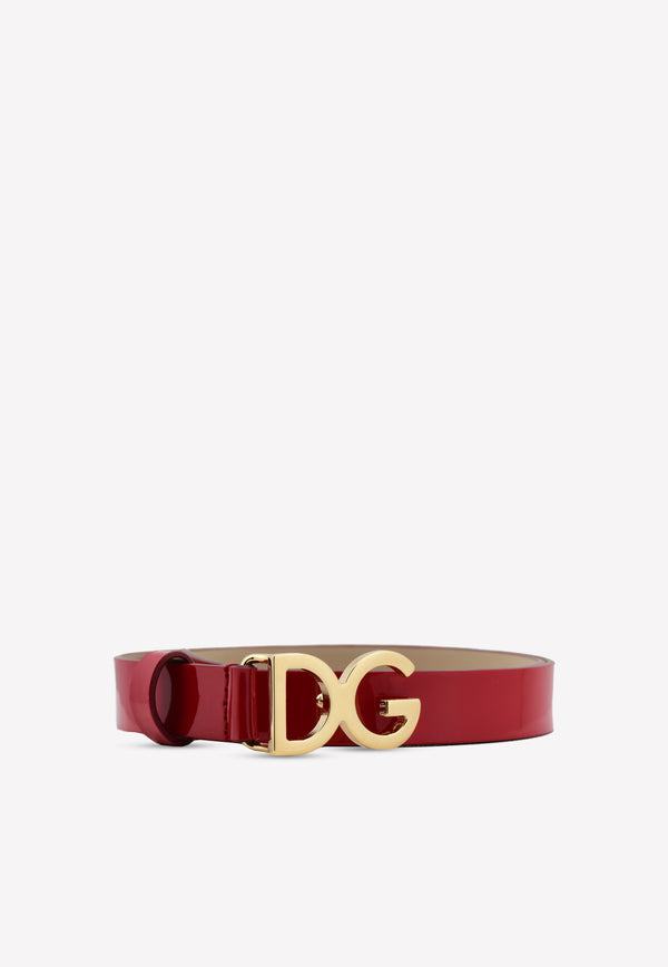 Girls DG Patent Calf Leather Belt