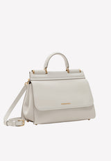 Small Sicily Soft Calfskin Top Handle Bag