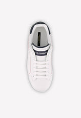 Calfskin Portofino Sneakers with Logo