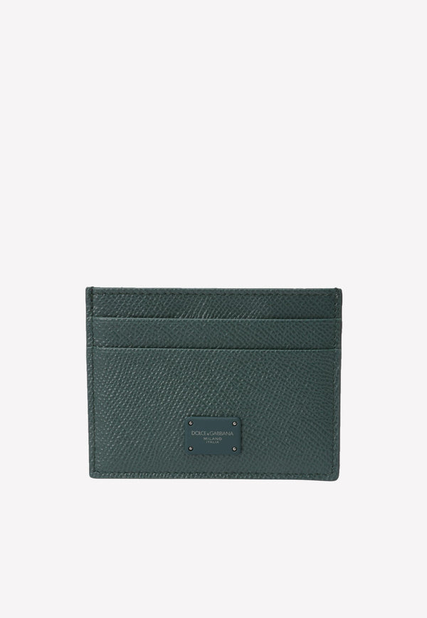 Cardholder in Dauphine Calfskin with Logo