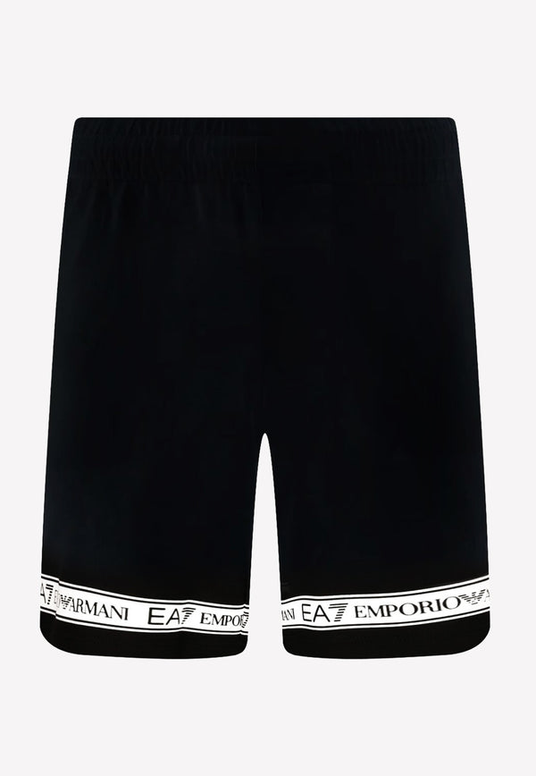 Logo Tape Cotton Bermuda Shorts