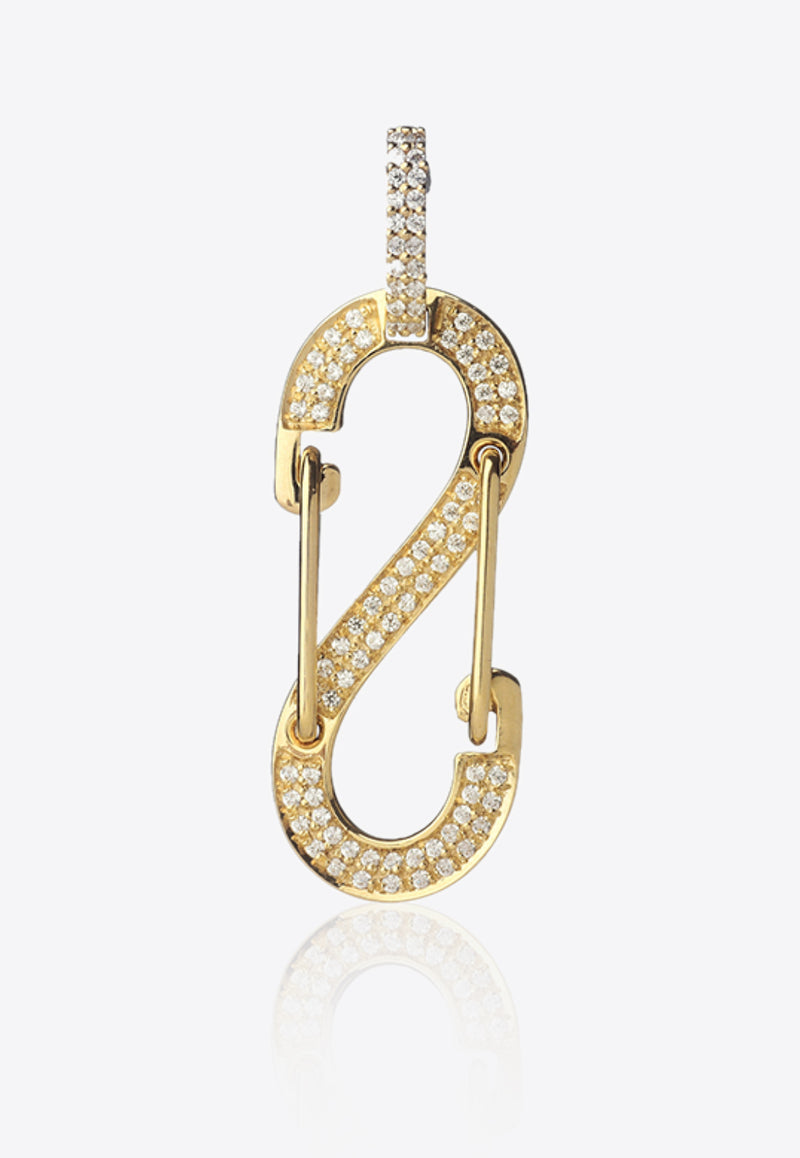 Special Order - Big Romy Diamond Pave Single Earring in 18K Yellow Gold