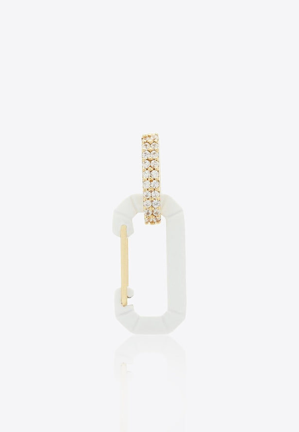 Immediate Delivery – Small Chiara 18K Yellow Gold Single Earring with Diamonds