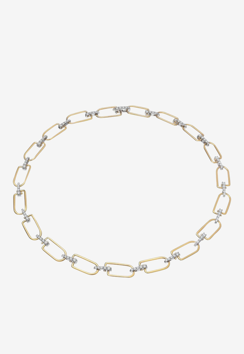Special Order - Reine Necklace in 18K Yellow & White Gold with Diamonds