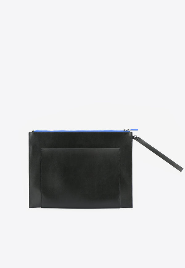 Large Ekusson Pouch Bag in Cow Leather