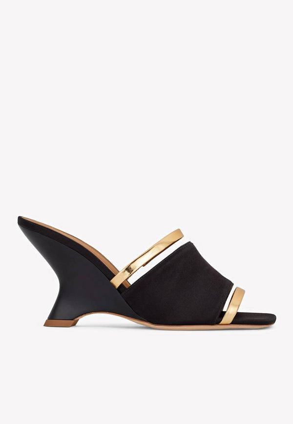 Demi 80 Wedge Satin Mules-E