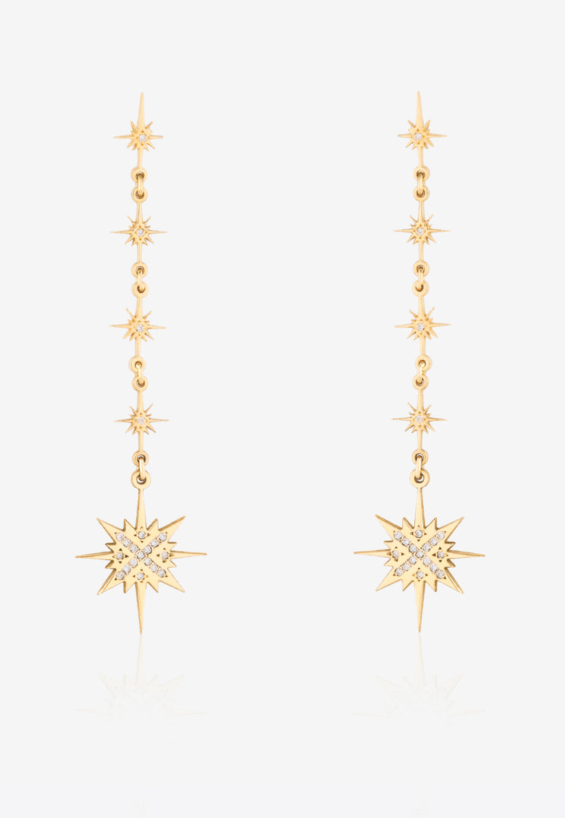 Sparkle Collection Earrings in 18-karat Yellow Gold with White Diamonds