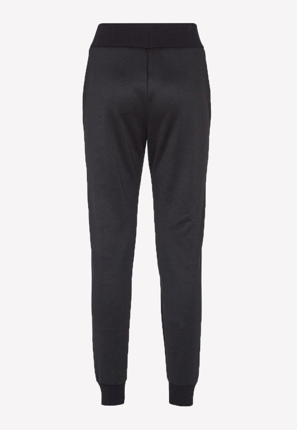 Side Stripe Logo Track Pants in Cotton Blend