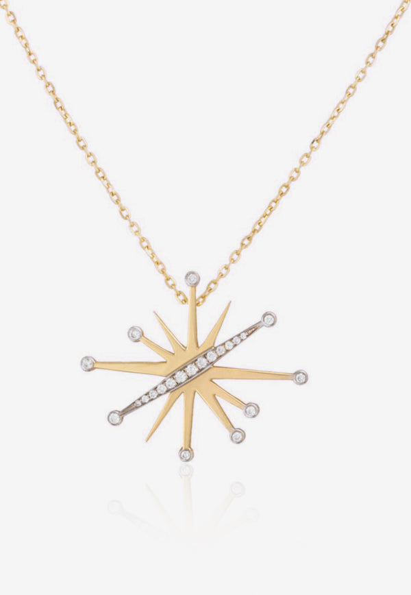 Special Order- Diamond Splash Collection Necklace in 18-karat Yellow Gold and White Diamonds